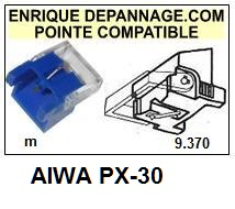 AIWA-PX30  PX-30-POINTES-DE-LECTURE-DIAMANTS-SAPHIRS-COMPATIBLES