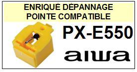 AIWA-PXE550 PX-E550-POINTES-DE-LECTURE-DIAMANTS-SAPHIRS-COMPATIBLES