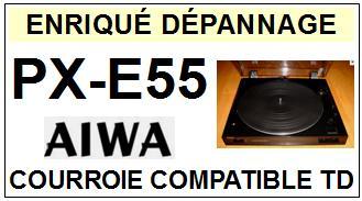 AIWA-PXE55 PX-E55-COURROIES-ET-KITS-COURROIES-COMPATIBLES