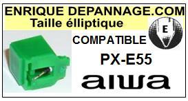 AIWA Platine PXE55 PX-E55 Pointe diamant elliptique <BR><small>sce 2014-08</small>