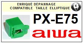 AIWA Platine  PXE75  PX-E75  Pointe de lecture compatible diamant elliptique