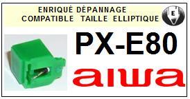 AIWA Platine PXE80 PX-E80 Pointe diamant elliptique <BR><small>sce 2014-02</small>