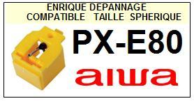 AIWA Platine PXE80 PX-E80 Pointe diamant sphérique <BR><small>sce 2014-06</small>