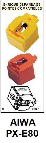 AIWA-PXE80  PX-E80-POINTES-DE-LECTURE-DIAMANTS-SAPHIRS-COMPATIBLES