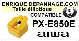 AIWA<br> PXE850E PX-E850E Pointe (stylus) elliptique pour tourne-disques<small>ce 2015-09</small>