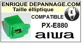 AIWA Platine PXE880 PX-E880 Pointe diamant elliptique <BR><small>sce 2014-08</small>