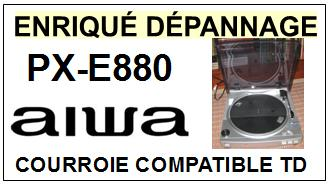 AIWA<br> PXE880 PX-E880 Courroie (flat belt) Tourne-disques <BR><small>sce 2015-01</small>