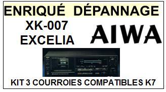 AIWA-XK007 XK-007-COURROIES-ET-KITS-COURROIES-COMPATIBLES