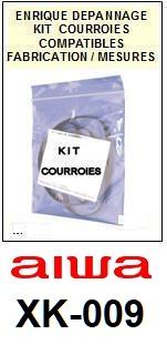 AIWA-XK009 XK-009-COURROIES-ET-KITS-COURROIES-COMPATIBLES