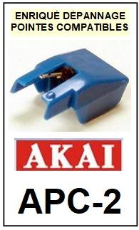 AKAI-APC2 APC-2-POINTES-DE-LECTURE-DIAMANTS-SAPHIRS-COMPATIBLES