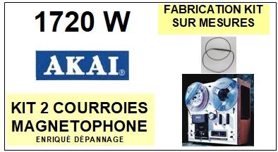 AKAI-1720W-COURROIES-COMPATIBLES