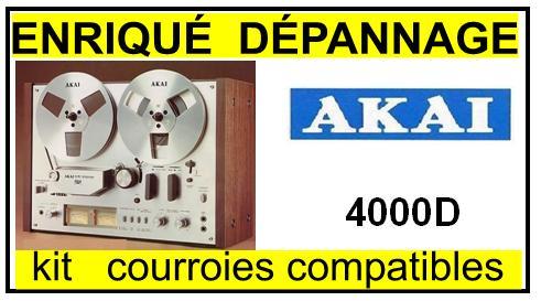 AKAI-4000D-COURROIES-COMPATIBLES
