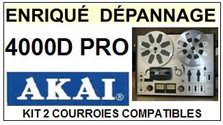AKAI<BR> 4000D PRO  kit 2 courroies (set belts) pour magnétophone<small> 2015-09</small>
