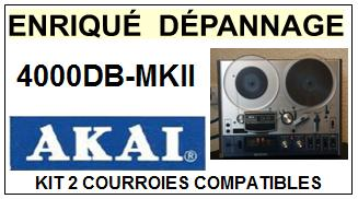 AKAI<BR> 4000DBMKII 4000DB-MKII kit 2 courroies (set belts) pour magnétophone<small> 2015-09</small>