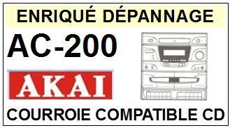 AKAI AC-200 AC-200 Courroie Platine Cd <br><small>a 14-01</small>