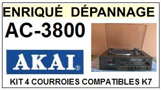 AKAI-AC3800 HIFI MUSIC CENTER-COURROIES-ET-KITS-COURROIES-COMPATIBLES
