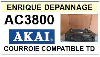 AKAI-AC3800 AC-3800 HIFI MUSIC CENTER-COURROIES-ET-KITS-COURROIES-COMPATIBLES