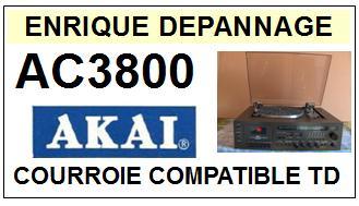 AKAI-AC3800 AC-3800 HIFI MUSIC CENTER-COURROIES-COMPATIBLES