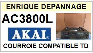 AKAI-AC3800L AC-3800L HIFI MISIC CENTER-COURROIES-ET-KITS-COURROIES-COMPATIBLES