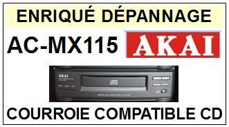 AKAI-ACMX115 AC-MX115-COURROIES-COMPATIBLES