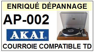 AKAI AP002 AP-002 Courroie Tourne-disques <BR><small>a 2014-08</small>