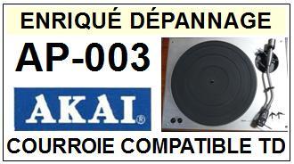 AKAI <br>AP003 AP-003 Courroie Tourne-disques <BR><small>a 2014-10</small>