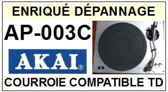 AKAI  AP003C  AP-003C  Courroie Compatible Tourne-disques