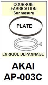 AKAI-AP003C AP-003C-COURROIES-ET-KITS-COURROIES-COMPATIBLES
