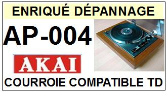 AKAI<br> AP004 AP-004 Courroie (flat belt) Tourne-disques <BR><small>sce 2015-04</small>