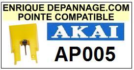 AKAI Platine AP005 AP-005 Pointe diamant sphérique <BR><small>sce 2014-09</small>