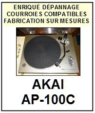 AKAI-AP100C AP-100C-COURROIES-COMPATIBLES