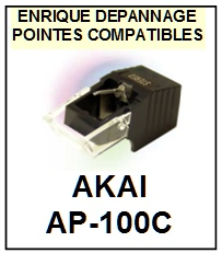 AKAI-AP100C AP-100C-POINTES-DE-LECTURE-DIAMANTS-SAPHIRS-COMPATIBLES