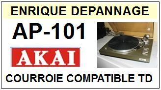 AKAI-AP101 AP-101-COURROIES-COMPATIBLES
