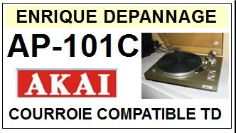 AKAI-AP101C AP-101C-COURROIES-COMPATIBLES