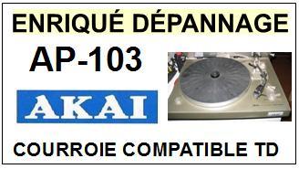 akai ap103 ap 103 courroie flat belt pour tourne disques sce 2015 02 16 euros. Black Bedroom Furniture Sets. Home Design Ideas