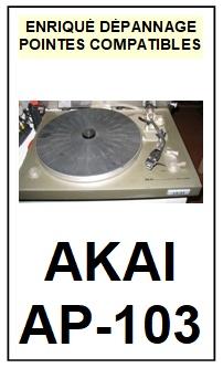 AKAI-AP103 AP-103-POINTES-DE-LECTURE-DIAMANTS-SAPHIRS-COMPATIBLES