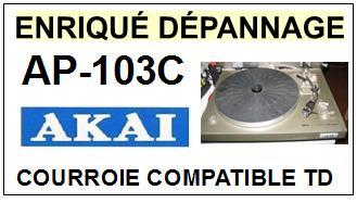 AKAI-AP103C AP-103C-COURROIES-COMPATIBLES
