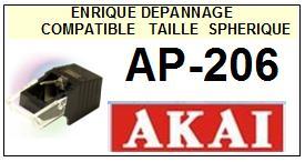 AKAI-AP206  AP-206-POINTES-DE-LECTURE-DIAMANTS-SAPHIRS-COMPATIBLES