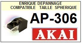 AKAI Platine AP306 AP-306 Pointe diamant sphérique <BR><small>se 2014-03</small>