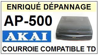 AKAI-AP500 AP-500-COURROIES-COMPATIBLES