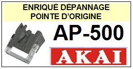 AKAI<br> AP500 AP-500 Pointe d\'origine pour tourne-disques <br><SMALL>c+pos 2014-11</SMALL>