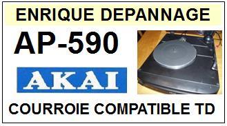 AKAI-AP590 AP-590-COURROIES-COMPATIBLES