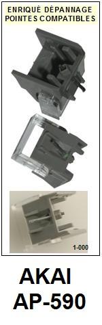 AKAI-AP590 AP-590-POINTES-DE-LECTURE-DIAMANTS-SAPHIRS-COMPATIBLES