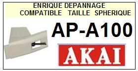 AKAI<br> APA100 AP-A100 Pointe (stylus) sphérique pour tourne-disques<SMALL> 2015-10</SMALL>