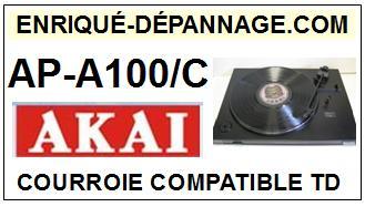 AKAI-APA100C AP-A100/C-COURROIES-COMPATIBLES