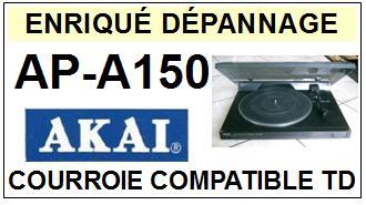AKAI  APA150  AP-A150  Courroie Compatible Tourne-disques