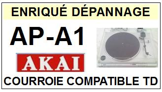 AKAI APA1 AP-A1 Courroie Tourne-disques <BR><small>sce 2014-08</small>
