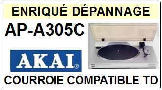 AKAI APA305C AP-A305C Courroie Tourne-disques <small>13-06</small>