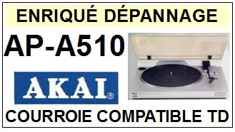 AKAI-APA510 AP-A510-COURROIES-COMPATIBLES