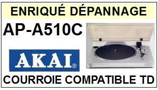 AKAI-APA510C AP-A510C-COURROIES-ET-KITS-COURROIES-COMPATIBLES